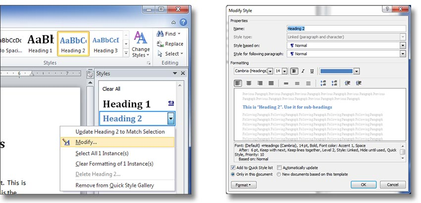 Learn How to use paragraph styles in Word
