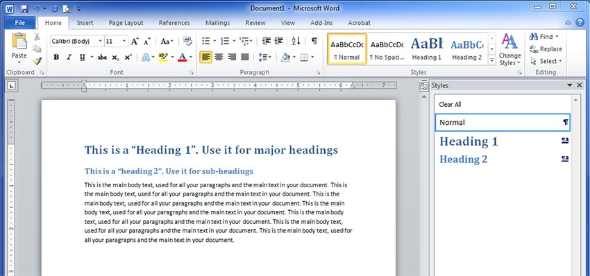 How to Update your Word document