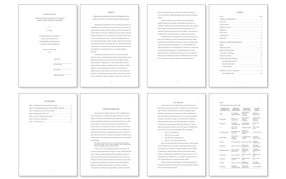 Formatting a phd thesis in word